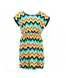 Soprano Multi Zig Zag Woven Dress