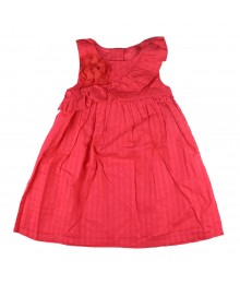 Gymboree Pink Ruffle Corsage Wt Rose Sleeveless Dress