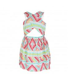 Gymboree Multi Colour Brushstroke Dress