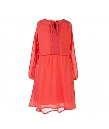 My Michelle Coral Lace Inset Hi-Low Dress