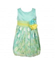 Sweet Heart Rose Aqua Multi Watercolor Lace Dress