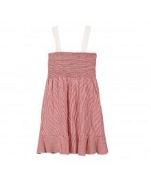 Kc Parker Red/White Stripe Button Girls Dress