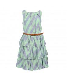Teeze Me Blue/Teal Tiered Dress