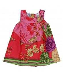 Blueberi Coral Multi Floral Print Swing Dress