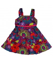 Youngland Purple Floral Sundress Little Girl