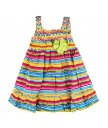 Youngland Multi Stipped Sundress