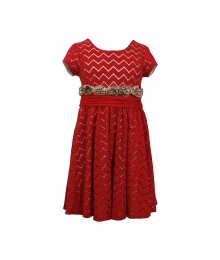 Bonnie Jean Wine Lace Dress Wit Nude Underlay N Chettah Ruffles