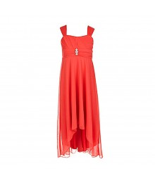 Ruby Roxcoral Hi-Low Spagh Dress Big Girl