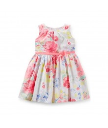Carters Multi Floral Print Dress