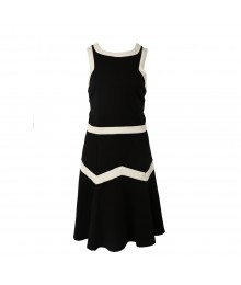 Heartsoul Black Drop Waist Dress Wt White Borders
