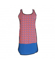 Gb Red/Purple/Blue Colorblock Dress