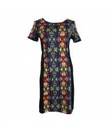 Olsenboye Black Print S/S Sheath Dress