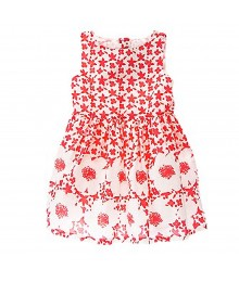 Crazy8  Red/White Floral Dress Little Girl