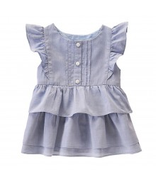 Gymboree Blue(Sunwashed) Layered Ruffle Tunic