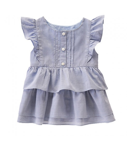 Gymboree Blue(Sunwashed) Layered Ruffle Tunic Baby Girl