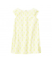 Gymboree Neon Yellow Butterfly Eyelet Dress