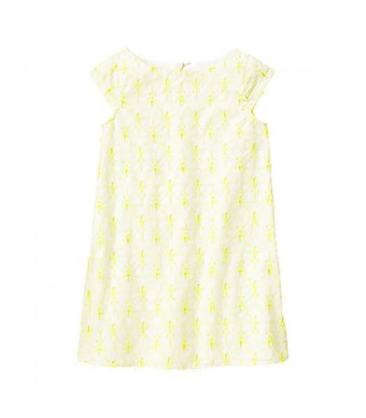 Gymboree Neon Yellow Butterfly Eyelet Dress Little Girl