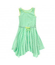 Crazy 8 Mint/Lemon Stripped Handkerchief Dress