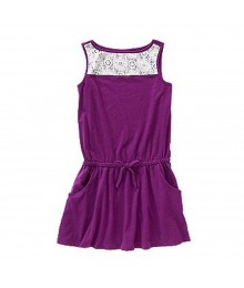 Crazy 8 Purple Drop Waist Lace Paneled Girls Top Little Girl
