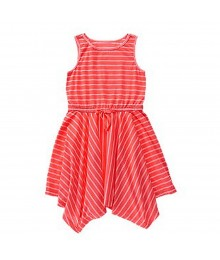 Crazy 8 Coral/Pink Stripped Handerchief Dress