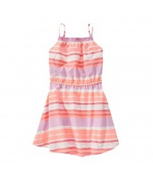 Crazy 8 Coral/Lilac/ Stripped Spaghetti Strap Dress Little Girl