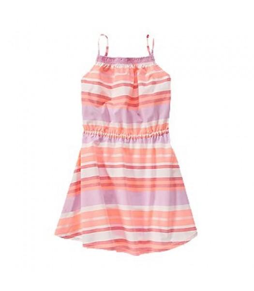 Crazy 8 Coral/Lilac/ Stripped Spaghetti Strap Dress