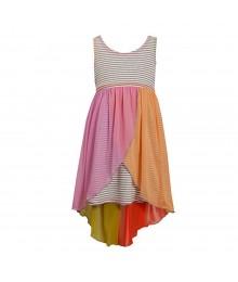 Bonnie Jean Grey Stripped Knit Dress Little Girl