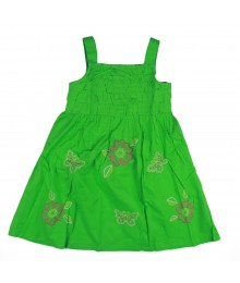 Okie Dokie Green Girls Ruffle Dress