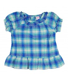 Oshkosh Blue Plaid Woven Tunic Baby Girl