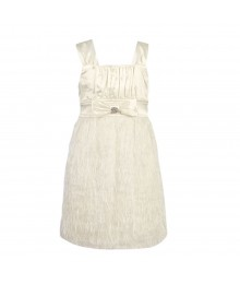 Ruby Rox  Faux-Feather White Dress