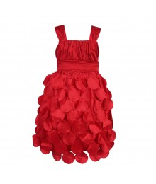 Ruby Rox Red Flying Saucer/ Tiered Petals Dress