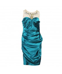 Hailey Logan Illusion Neck Jeweled Dress
