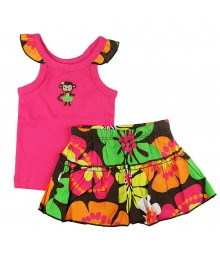 Carters 2pc Fushcia Tank N Multi Skort