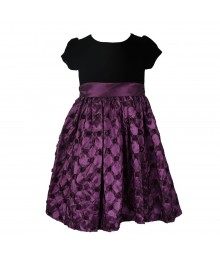 American Princess Black Velvet With Pick Up Purple Taffeta