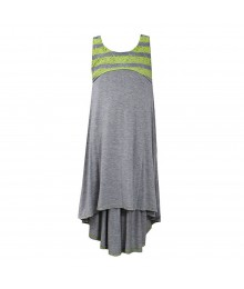 Bonnie Jean Grey/Lemon Sleeveless Racerback Dress