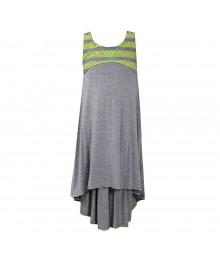 Bonnie Jean Grey/Lemon Sleeveless Racerback Dress