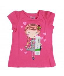 Jumping Beans Pink Girls Tee Wt Girl Print