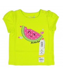Jumping Beans Lemon Grn Tee Wt Watermelon  Appliq Baby Girl