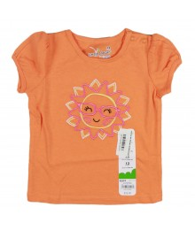 Jumping Beans Orange Girls Tee Wt Ms Sunshine Embrdry Baby Girl