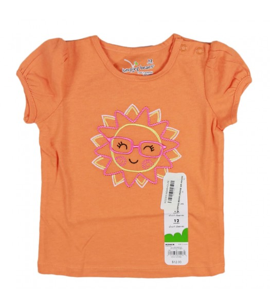 Jumping Beans Orange Girls Tee Wt Ms Sunshine Embrdry