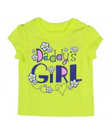 Childrens Place Lemon Green Dads Girl Print Tee