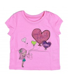 Childrens Place Pink Sweet Heart, Love Girls Tee