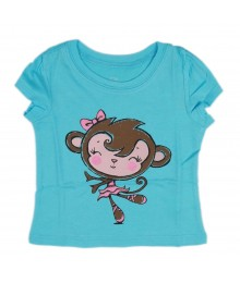 Childrens Place Turquoise Girls Tee - Monkey Baby Girl
