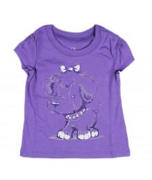 Childrens Place Purple Girls Tees- Shimmer Puppy Baby Girl