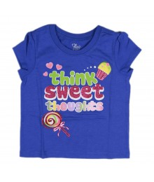 Childrens Place Blue Girls Tee- Think Sweet Thots Baby Girl
