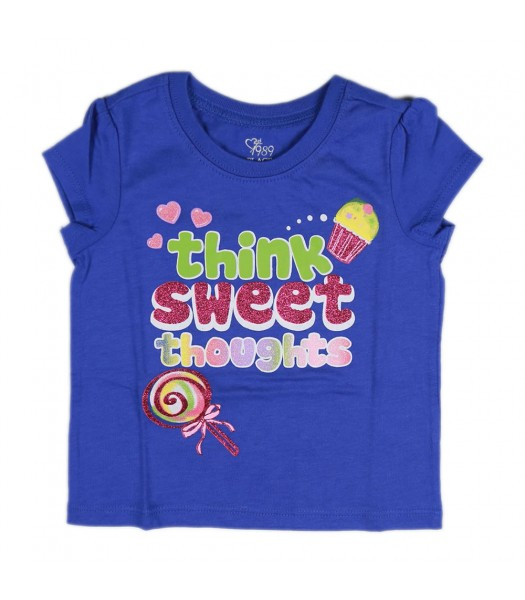 Childrens Place Blue Girls Tee- Think Sweet Thots
