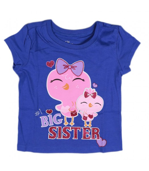 Childrens Place Blue Girls Tee- Big Sister