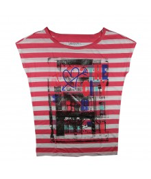 Aeropostale Pink Stripped Girls Dolman Tee - The City Heart