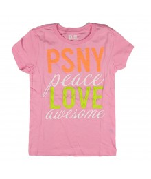 Aeropostale Light Pink Girls Tees - Psny Peace Love