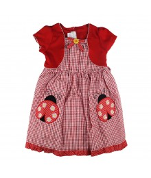 Youngland Red Seersucker Dress Little Girl